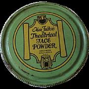 Max Factor Theatrical Face Powder Advertising Tin Hollywood California