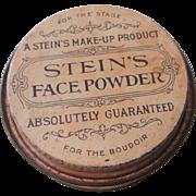 Steins Theatrical Face Powder Tin Advertising Boudoir Stage Makeup