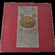 Vintage Wedding Handkerchief Holder 1940s Victorian Revival Romantic Embossed Holder White Lace Hankie
