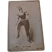 Antique Cabinet Photo Theatrical Theater Actress June Burbank Late 1800s Newsboy New York