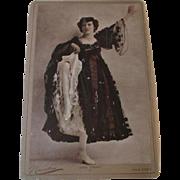 Large Antique Theatrical Cabinet Photo Lola Yberri Newsboy New York