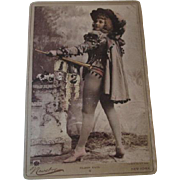 Large Theatrical Cabinet Photo Antique Late 1800s Newsboy New York Actress Eileen Karl