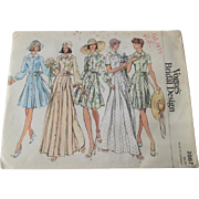 Vogue Bridal Design Sewing Pattern Vintage 1970s Wedding Dress Shirtdress Boho Bohemian 2867