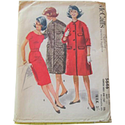 Suburban Dress and Coat Sewing Pattern Vintage 1950s McCalls 5646