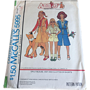 Annie Musical Costume Clothes Sewing Pattern Vintage 1970s Uncut Halloween Girls Size 8