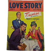 Vintage 1940s Love Story Magazine Street and Smith Illustrated Periodical