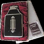 Ronson Cigarette Holder Lighter Vintage 1940s Art Deco Chromium Plate Monogrammed MK