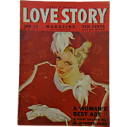 Street and Smith Love Story Magazine Vintage 1940s Romance Illustrated Periodical