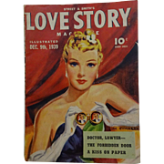 Street and Smith Love Story Magazine Vintage 1930s Opera Glasses Romance Illustrated Periodical