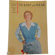 Womans Day To Knit And Wear Vintage 1950s Knitting Book Men Women Childrens Fashions