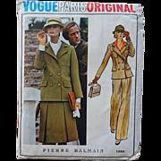 Vogue Paris Original Sewing Pattern Vintage 1970s Uncut Designer Pierre Balmain Women Suit Skirt Jacket Pants