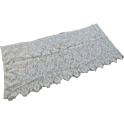 Wide Antique Early 1900s Lace Edging Trim Fine Netting Machine Knitted Deep Filmy 60 Inches