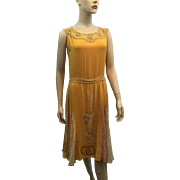 RESERVED For Barbara: Vintage 1920s Silk Beaded Flapper Dress