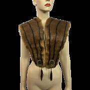Reserved for Barbara: Art Deco Mink Fur Stole