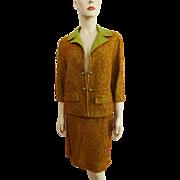 Vintage 1950s Womens Skirt Suit Jacket Bobbie Bee Wool Boucle