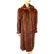 Vintage 1940s Marmot Full Length Fur Coat Larger Size