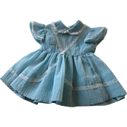 Full Circle Swing Dress Vintage 1950s Girls Childrens Powder Blue Lace 1T