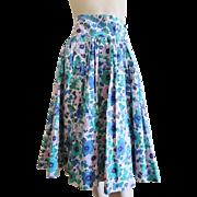 Cotton Feedsack Skirt Vintage 1930s Handmade Depression Spring Flowers