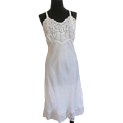 Lady Lynn Lingerie Full Slip Vintage 1960s Nylon Lace Ivory Wedding Bridal