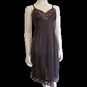 Brown Nylon Full Slip Vintage 1960s Lingerie Lace Munsingwear