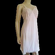 Blush Pink Full Slip Negligee Vintage 1960s Nylon Lace Adonna L