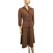 Vintage 1940s Womens Skirt Suit WWII Era Frank Gallant New York - Red Tag Sale Item