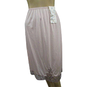 Petal Pink Lace Half Slip Vintage 1960s Rogers Nylon Salesman Sample Never Worn