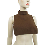 Sweater Turtleneck Dickie Vintage 1970s Soft Brown Knit
