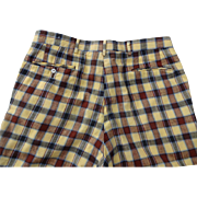 Vintage 1970s Plaid Mens Golf Pants