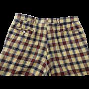 Vintage 1970s Plaid Mens Golf Pants