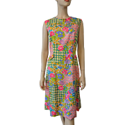 Vintage 1960s Floral Shift Dress Goldwater of Arizona
