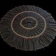 Full Circle Skirt Vintage 1950s Rockabilly Swing Black Cotton Rick Rack Trim