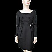 Black Cocktail Dress Vintage 1960s Special Occasion Evening Wear