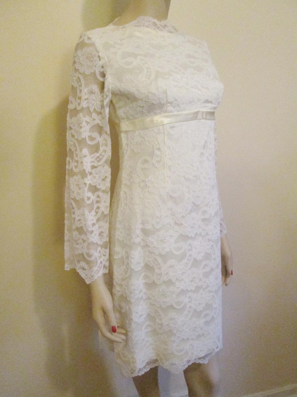 mod white lace dress vintage 1960s wedding party womens fashion from vanityflairvintage on ruby lane