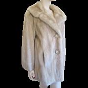 WINTER CLEARANCE! Mink Fur Coat Vintage 1950s Champagne Honey Blonde Lucite Buttons
