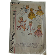 12 Inch Doll Sewing Pattern Vintage Betsy Wetsy Carrie Cries Sweetie Pie Tiny Tears Wardrobe