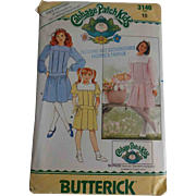 Uncut Cabbage Patch Doll Kids Sewing Pattern Vintage 1980s Butterick 3140 Size 10 Girls Doll Dress