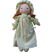 Holly Hobbie Cloth Doll Amy Vintage 1970s American Greetings