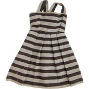Small Doll Striped Sundress Dress Brown White