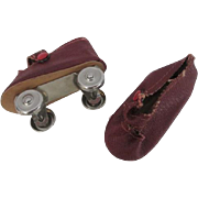 Doll Roller Skates Vintage 1950s Mary Jane Rockabilly Sock Hop