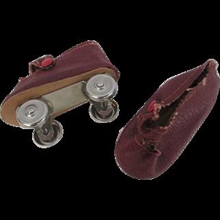 Doll Roller Skates Vintage 1950s Mary Jane Rockabilly Sock Hop