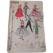 Large Doll Sewing Pattern Vintage Simplicity 2293 18 Inch Cissy