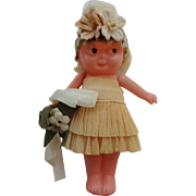 Celluloid Kewpie Bride Doll Vintage 1920s Carnival Prize Toy