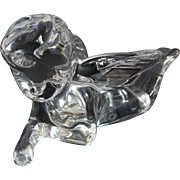 Rare Baccarat Crystal Laying Cherub Angel Figurine Thinking Of You New With Tags France French