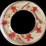 Rare Starfish Lucite Bangle Bracelet Vintage 1960s Saucer Seashells
