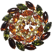 Fall Colors Brooch Vintage 1950s Large Mint Condition