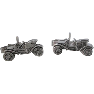 Ford Model T Clips Link Vintage 1970s Tin Lizzie Silver Plate