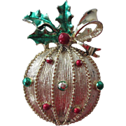 Gerrys Christmas Ornament Brooch Vintage 1960s Signed Holiday Pin