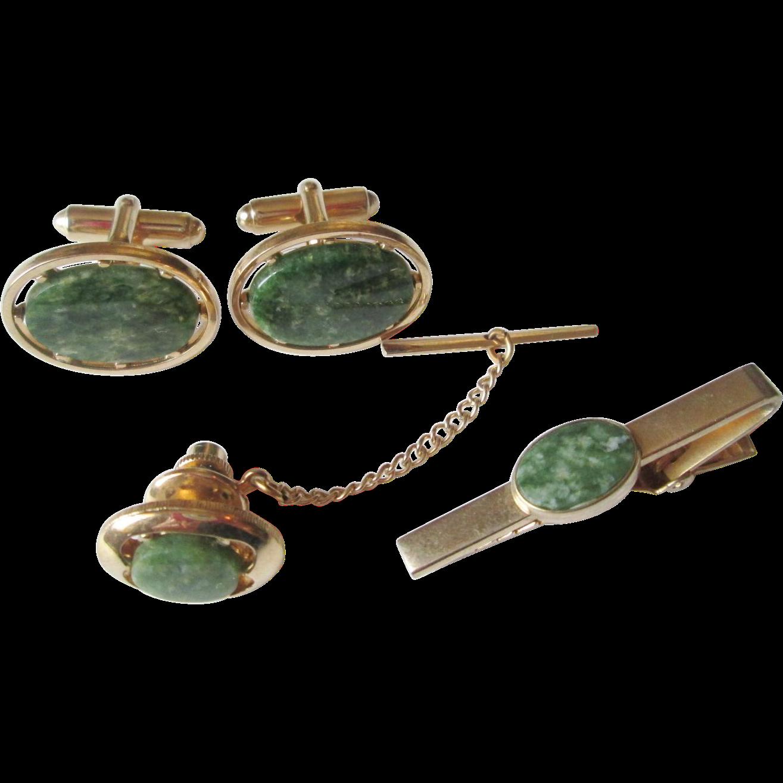 mid century modern anson mens jewelry set vintage 1950s