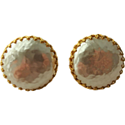 Miriam Haskell Baroque Earrings Vintage 1950s Signed Designer Clip Jewelry